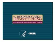 The Business Case for Breastfeeding - Worksite Wellness