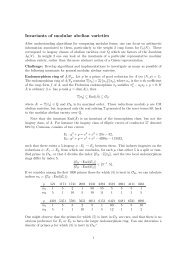 Invariants of modular abelian varieties - ECHIDNA: Elliptic Curves ...