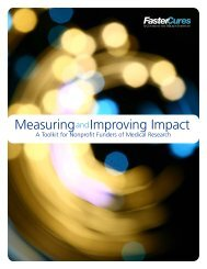 Measuring and Improving Impact - FasterCures