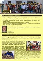Infobrief Sommer 2011 - Perspektive Senegal