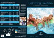 Swimming Timetable - Bridport Leisure