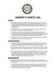 SHERIFF'S NORTH JAIL - Broward Sheriff's Office