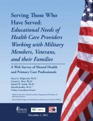 Serving Those Who Have Served: Educational Needs of ... - MIRECCs