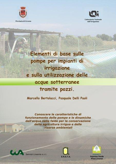 Schema Elettrico Pompa Sommersa Pozzo : Pozzi e pompe per irrigazione irri.it