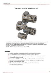 OWECON OWL200 Series Load Cell - Owecon.com