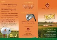 Pro-Shop News - Golf Valley GmbH