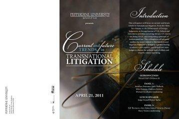LITIGATION - Pepperdine University School of Law