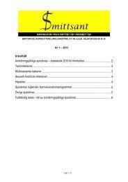 Innehåll Anmälningspliktiga sjukdomar – årsstatistik 2010 för ...