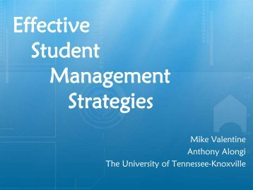 Presentation - RecSports - The University of Tennessee, Knoxville