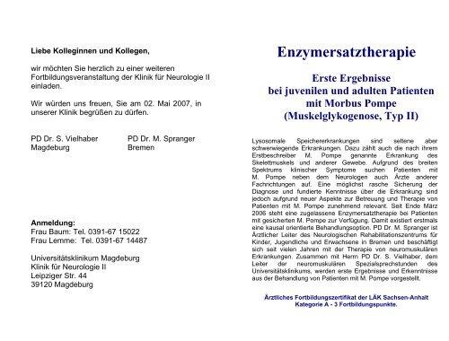Flyer - Klinik für Neurologie