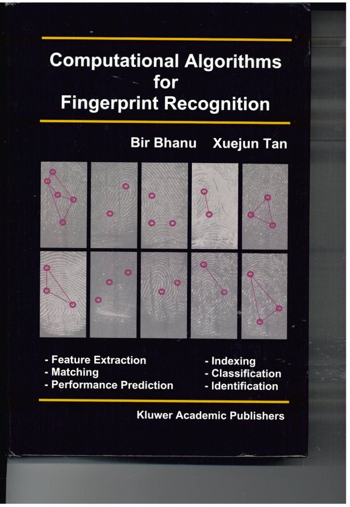 fingerprint recognition thesis Performance amelioration of fingerprint recognition by li wang beng software engineering master of computer science thesis submitted for ful llment of the requirements for the degree of.
