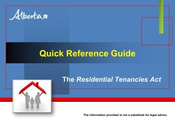 Quick Reference Guide - Service Alberta