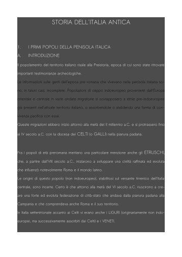 STORIA DELL'ITALIA ANTICA - stringherserale