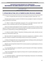 REFERENCIAS BIBLIOGRAFICAS EN TUBERCULOSIS - Neumosur