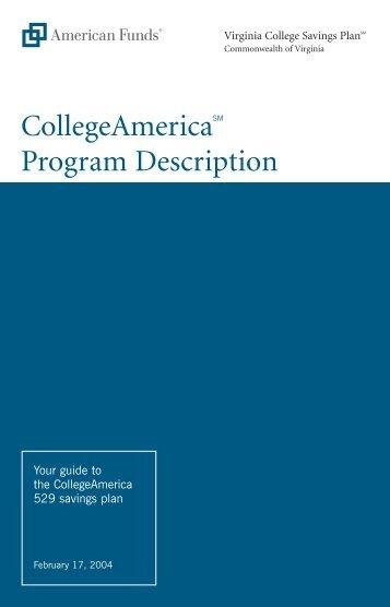 Collegeamerica Program Description (February 2004)