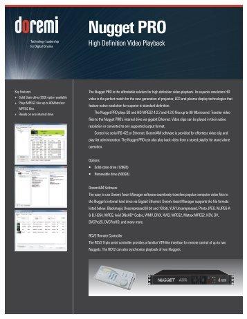 Nugget PRO Brochure - Doremi Labs