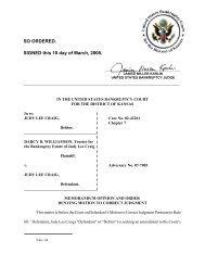 07-07003 Williamson v. Craig - District of Kansas