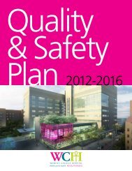 QuAlITy ANd SAFETy PlAN 2012-2016 - Women's College Hospital