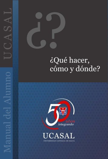 Manual del Alumno - Universidad Catolica de Salta