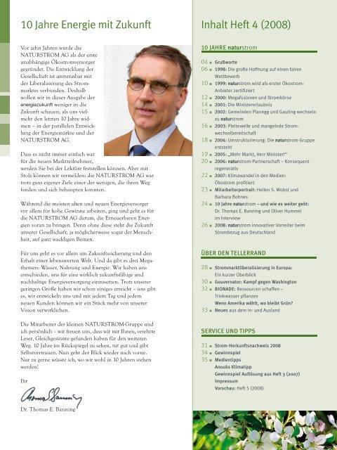 naturstrom Magazin energiezukunft