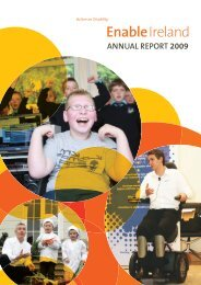 Annual Report 2009 - Enable Ireland