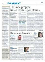 L'Europe propose un « Erasmus pour tous » - Agence Europe ...