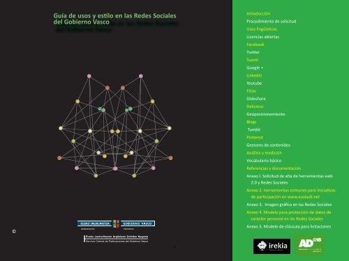 Guía de usos y estilo en las Redes Sociales del ... - Euskadi.net