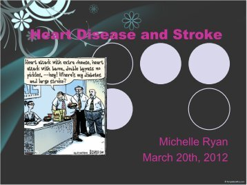 Heart Disease and Stroke - MRyan - PageOut
