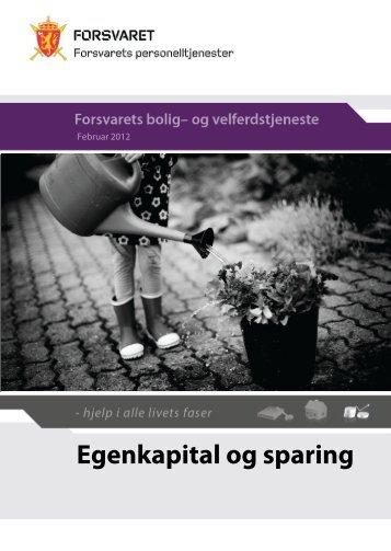 Egenkapital og sparing (pdf) - Forsvaret