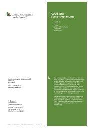 Muster Vorsorgeplanung - Liechtensteinische Landesbank