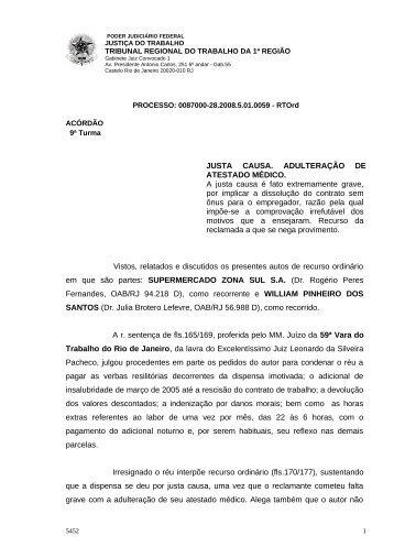 00870002820085010059#01-1 - Tribunal Regional do Trabalho da ...