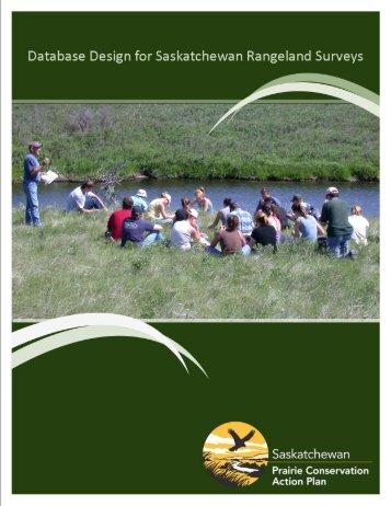 database design for saskatchewan rangeland surveys
