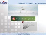 SharePoint 2010 - Layer 2 GmbH