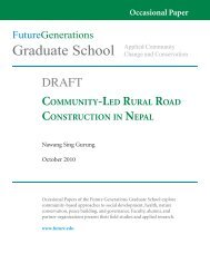 Rural Road Construction in Nepal .pdf - Future Generations