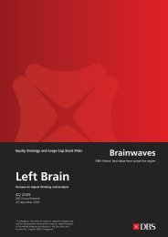 Left Brain Right B - the DBS Vickers Securities Equities Research