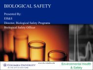 BIOLOGICAL SAFETY - Environmental Health & Safety