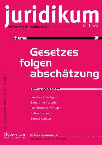 juridikumnr 1 - juridikum, zeitschrift für kritik | recht | gesellschaft