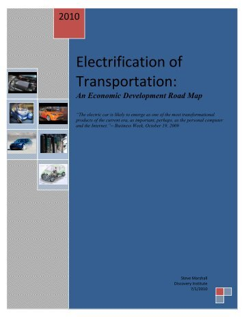 Electrification of Transportation: - Washington Economic ...