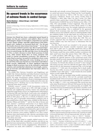 No upward trends in the occurrence of extreme ... - KlimaNotizen
