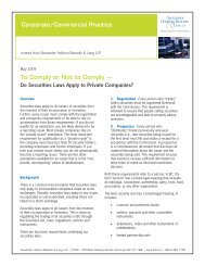 Do Securities Laws Apply to Private Companies? - Alexander ...