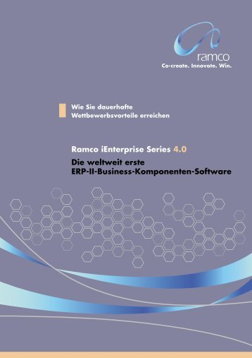 Ramco iEnterprise Series 4.0 Die weltweit erste ERP-II ... - SoftSelect