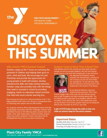 Why choose YMCA Summer Camps?