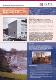 Decommissioning of Buildings 35 & 47 Harwell project profiles
