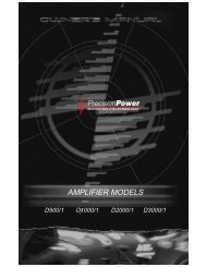 AMPLIFIER MODELS - Precision Power