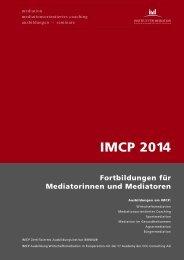 Gesamtprogramm 2014 Fortbildungen Mediator - Institut für Mediation