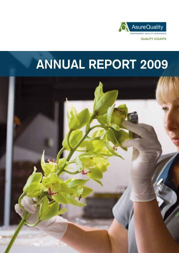 ANNUAL REPORT 2009 - AsureQuality
