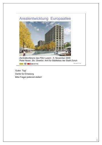 Arealentwicklung Europaallee - FSU