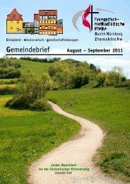Gemeindebrief Aug-Sep 2011 - Zionsgemeinde