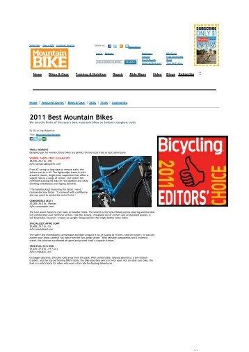 2011 Best Mountain Bikes - Santa Cruz PL
