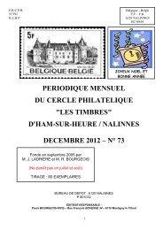 Bulletin n°73 décembre 2012 - les Timbres